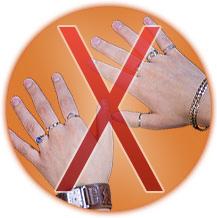 Bijoux interdits - Table a repasser avec les mains ...